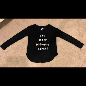 "Girls Designer ""EAT SLEEP be happy REPEAT"" Top"